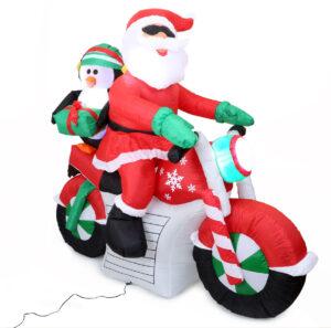 santa-aufblasbarmotorrad