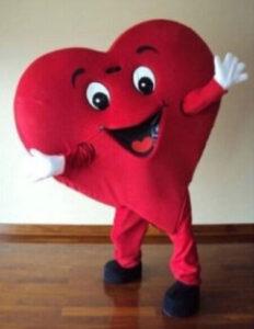 Laufkostüm Herz für den Kindergeburtstag