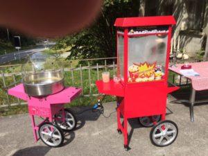 Popcorn und Zuckerwattemaschine mieten
