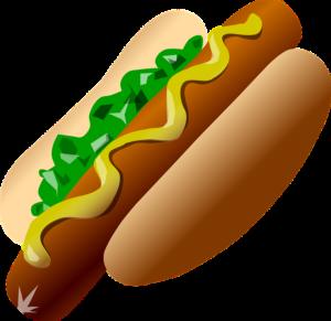 ein heisser Hund Hot Dog