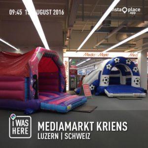Hüpfburg mieten im Mediamarkt