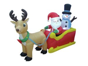 Santa mit Schlitten mieten